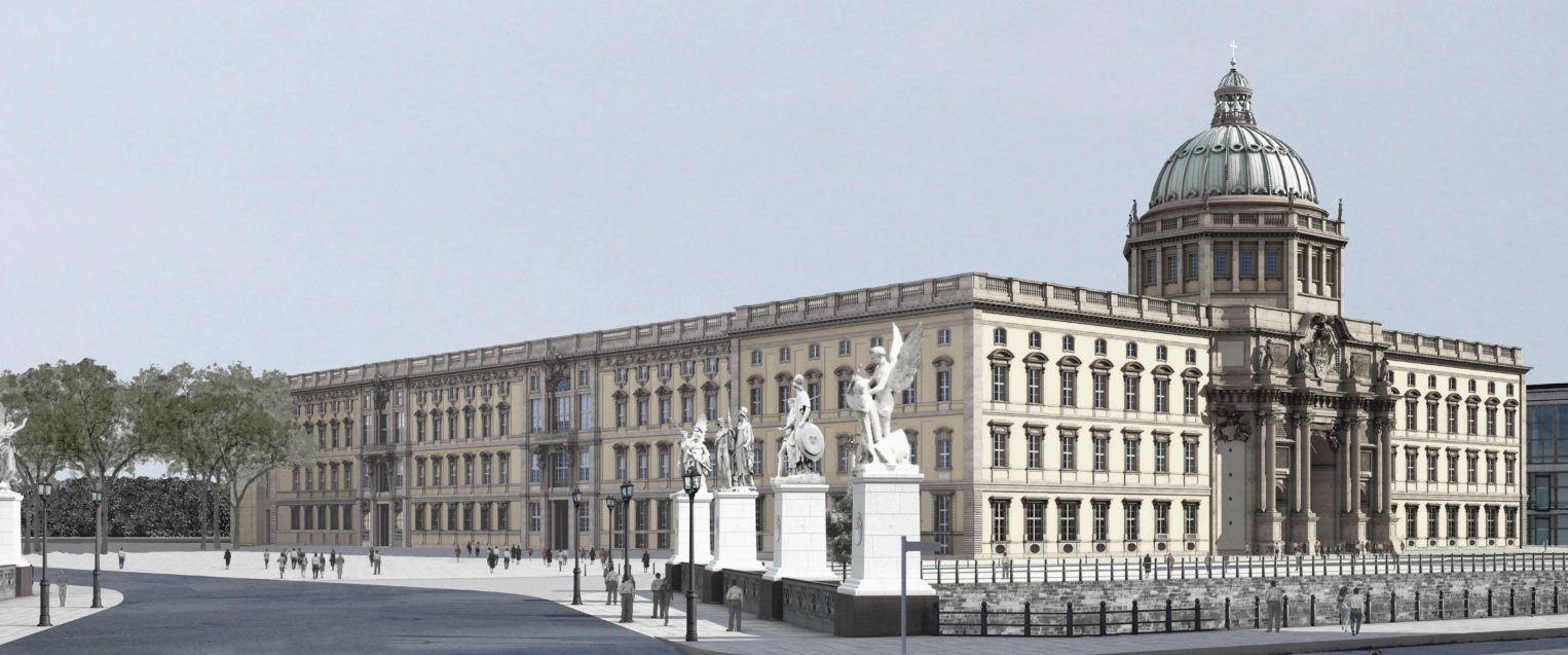 Oude façade voor Nieuw Berlijn